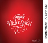 happy valentines day card ... | Shutterstock .eps vector #771844432