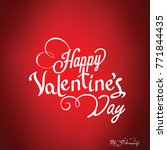 happy valentines day card ... | Shutterstock .eps vector #771844435
