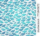 chinese cloud seamless pattern   Shutterstock .eps vector #771845872