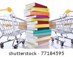 Stack Of Color Books And A...