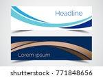 set of modern design   vector... | Shutterstock .eps vector #771848656