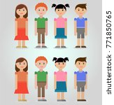 child characters in 2 poses ... | Shutterstock .eps vector #771850765