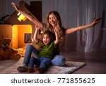 full length portrait of excited ... | Shutterstock . vector #771855625