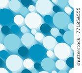 seamless texture with 3d blue... | Shutterstock .eps vector #771856555