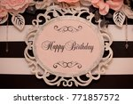 happy birthday banner | Shutterstock . vector #771857572