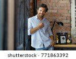 portrait of handsome man | Shutterstock . vector #771863392