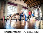 multi ethnic group of people... | Shutterstock . vector #771868432