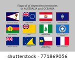 flags dependent territories... | Shutterstock .eps vector #771869056