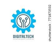 digital tech   vector business... | Shutterstock .eps vector #771873532