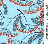 winter seamless pattern.... | Shutterstock .eps vector #771873535