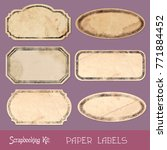 Set Of Grungy Paper Labels And...
