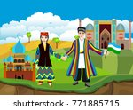 uzbekistan country travell... | Shutterstock .eps vector #771885715