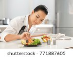 beautiful asian woman preparing ... | Shutterstock . vector #771887605