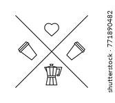 hipster logo template for... | Shutterstock .eps vector #771890482