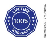 lifetime warranty flat badge on ... | Shutterstock .eps vector #771890506