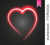 bright neon heart. heart sign... | Shutterstock .eps vector #771902326
