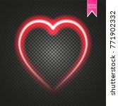 bright neon heart. heart sign... | Shutterstock .eps vector #771902332