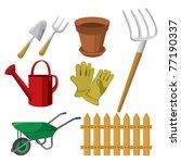 gardening tools | Shutterstock .eps vector #77190337