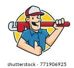 plumber mascot  plumber...   Shutterstock .eps vector #771906925