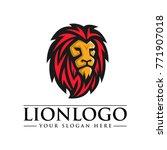 vector of lion head  lion logo... | Shutterstock .eps vector #771907018