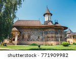 the sucevita monastery is a... | Shutterstock . vector #771909982