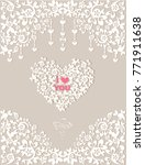 beautiful wedding invitation... | Shutterstock .eps vector #771911638
