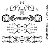 decorative monograms and... | Shutterstock .eps vector #771912532