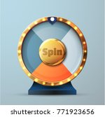 4 options spin and win wheel | Shutterstock .eps vector #771923656