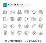 Outline Icons About Coffee And...