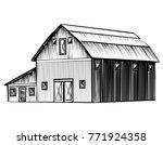 farm barn isolated on white... | Shutterstock .eps vector #771924358