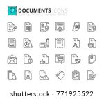 outline icons about documents.... | Shutterstock .eps vector #771925522