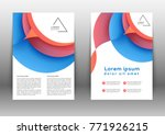 color brochure design template... | Shutterstock .eps vector #771926215