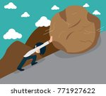salary man vol.1 work no plans. ... | Shutterstock .eps vector #771927622