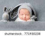 Infant Baby Boy Sleeping Under...