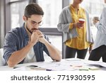 serious clever experienced male ...   Shutterstock . vector #771930595