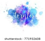handwritten modern calligraphy... | Shutterstock .eps vector #771932608