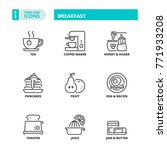 line icons about breakfast | Shutterstock .eps vector #771933208