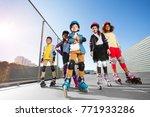 happy multiethnic kids in... | Shutterstock . vector #771933286