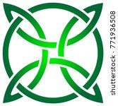 celtic shamrock knot in circle. ... | Shutterstock .eps vector #771936508