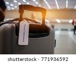 travel insurance tag on... | Shutterstock . vector #771936592