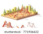 vector low poly outdoors... | Shutterstock .eps vector #771936622