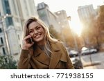 hello  attractive young woman... | Shutterstock . vector #771938155