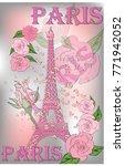 vintage france poster design....   Shutterstock .eps vector #771942052