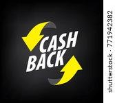 emblem cash back | Shutterstock .eps vector #771942382