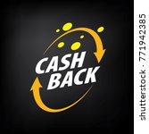 emblem cash back | Shutterstock .eps vector #771942385