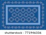 Pattern Frame Of Bluish Beads...