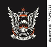 motorcycle club illustration | Shutterstock .eps vector #771951718
