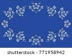 Bluish Background With Blue...