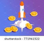 bitcoin financial system grows. ... | Shutterstock .eps vector #771961522