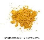 turmeric or curcuma powder pile ... | Shutterstock . vector #771969298